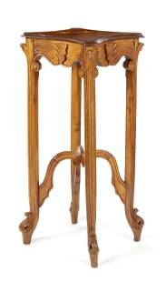 Gallé style pedestal/column,