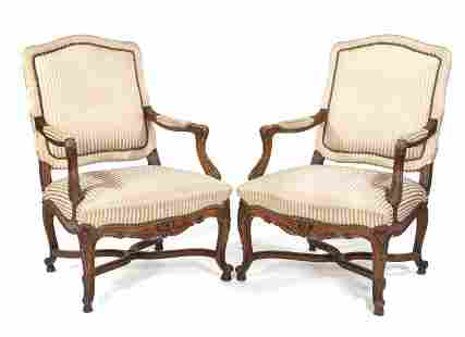 Pair of Neo-Rococo armchairs