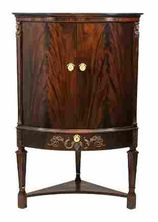 Empire style corner cabinet,