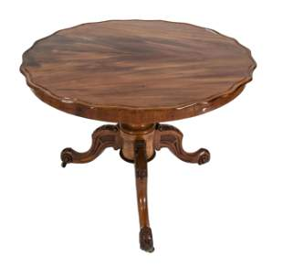 Round dining table, England