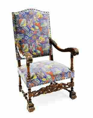 Armchair around 1880, solid