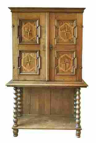 Baroque gallery cabinet, 18t