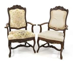 Pair of baroque style armcha