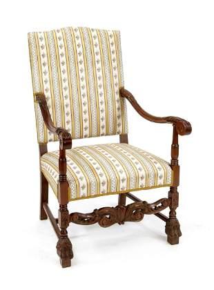 Armchair, 20th c., walnut ca