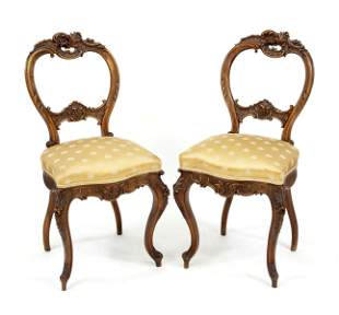 Pair of chairs in rococo sty