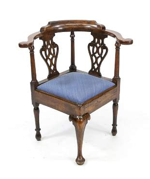 Chippendale corner chair, En