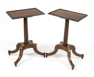 Pair of side tables, England