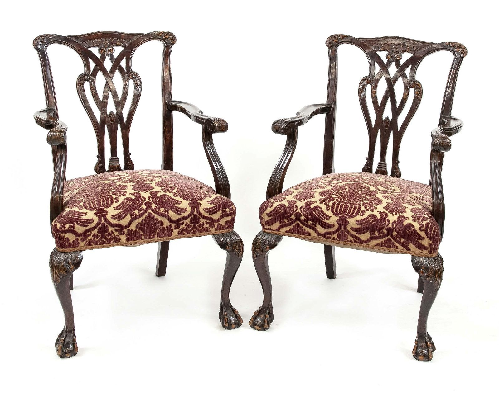 Pair of armchairs, England 2