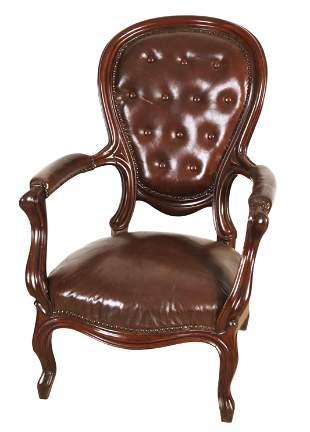 Armchair around 1860, mahoga