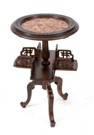 Side table around 1900, waln