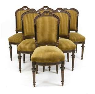 Set of six chairs around 187