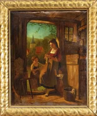 Genre painter mid-19th c., c