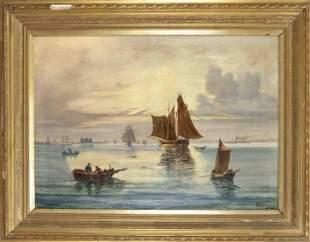 E.Hansen, marine painter aro