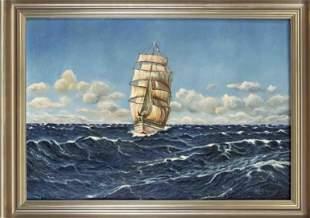 signed Hegert, marine painte