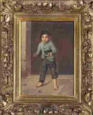 A. Lanzoni, Ital. Genre paint