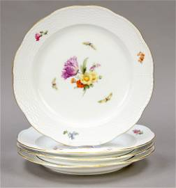 Four dinner plates, KPM Berlin