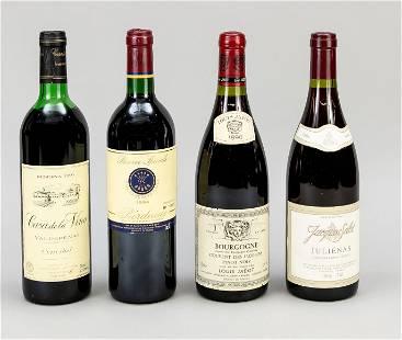 4 bottles of red wine: 1 x 1990 B