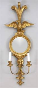 Sconce with mirror/blaker, end of