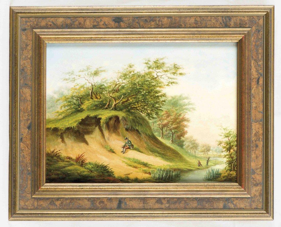 J.H.Jansen, Maler des 19.Jh., Holländische Landschaft