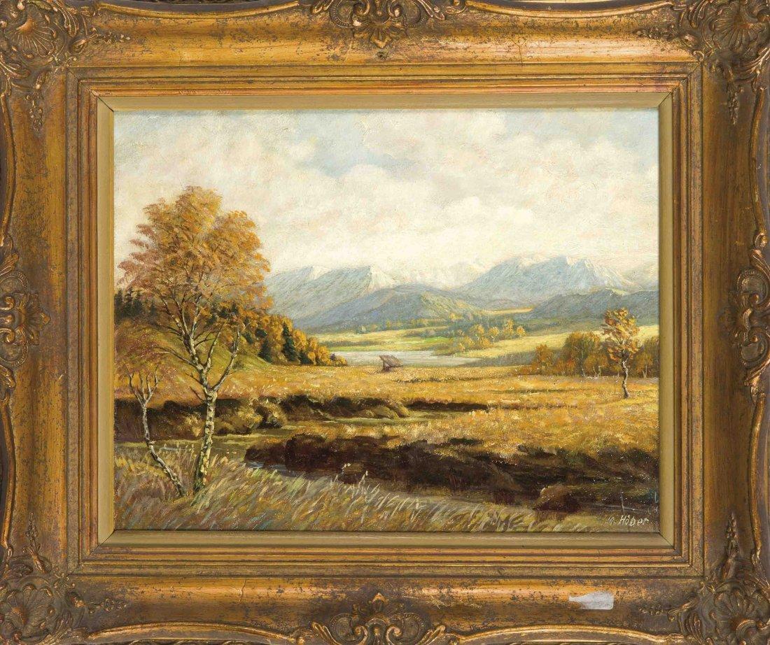 M. Hoeber, Landschaftsmaler um 1940, Landschaft mit