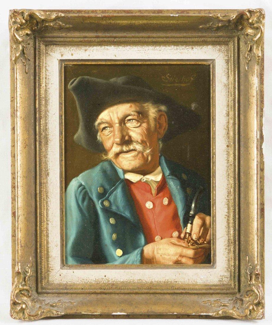 Ernst Stierhof, österr. Porträtmaler um 1918, Tiroler