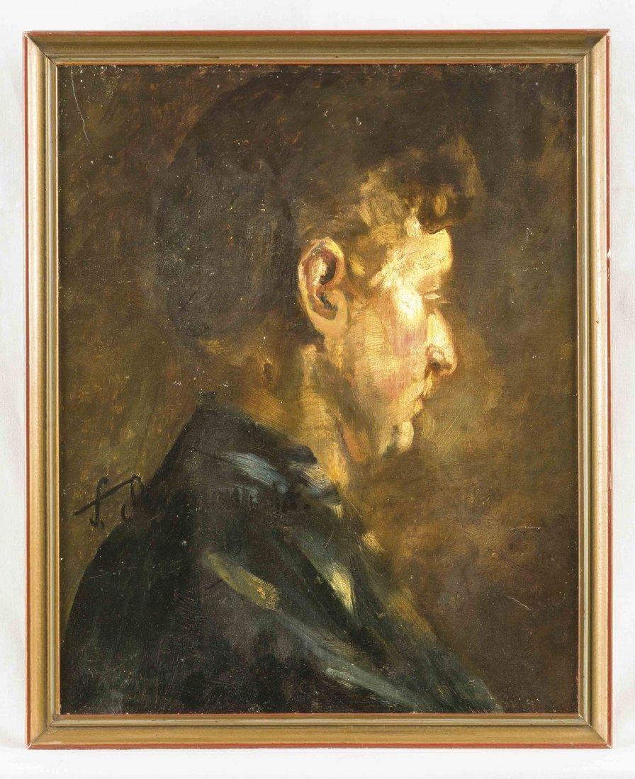 Anonymer Düsseldorfer Maler um 1920, Porträt eines
