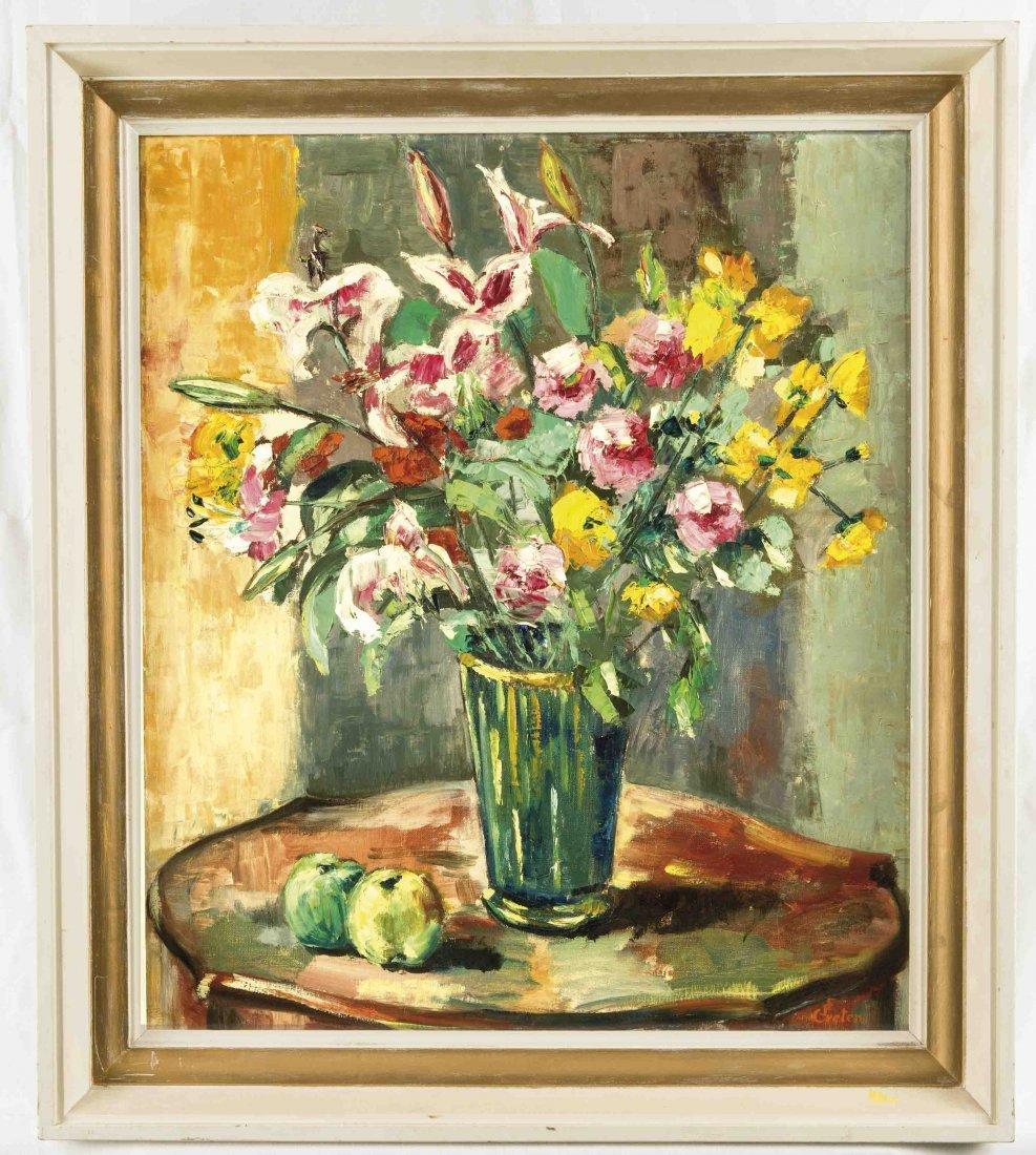 L. F. Greten, dänischer Blumenmaler um 1930,