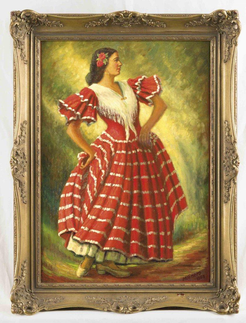 Molinero, spanischer Porträtmaler 1960er Jahre,