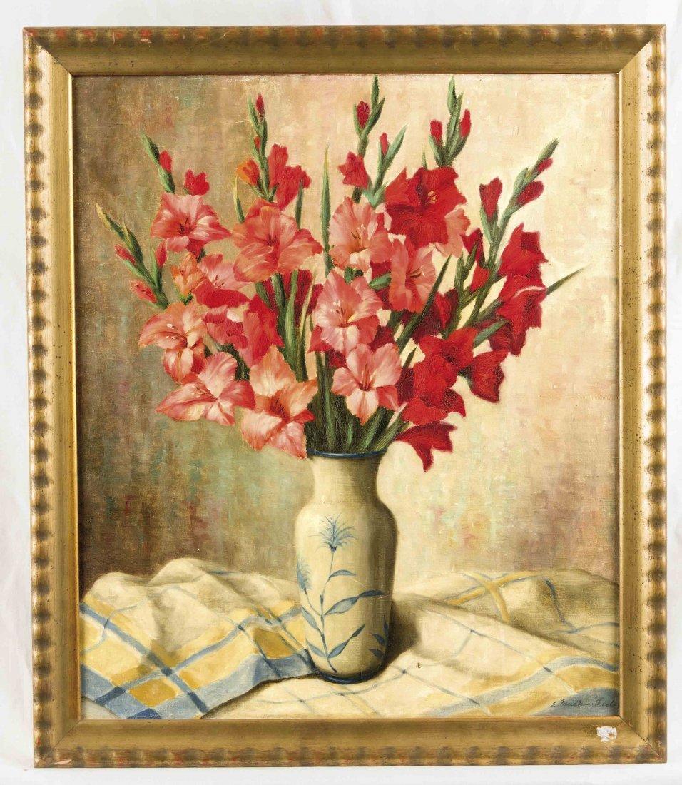 E. Müller-Thielo, deutscher Blumen- und Stillebenmaler