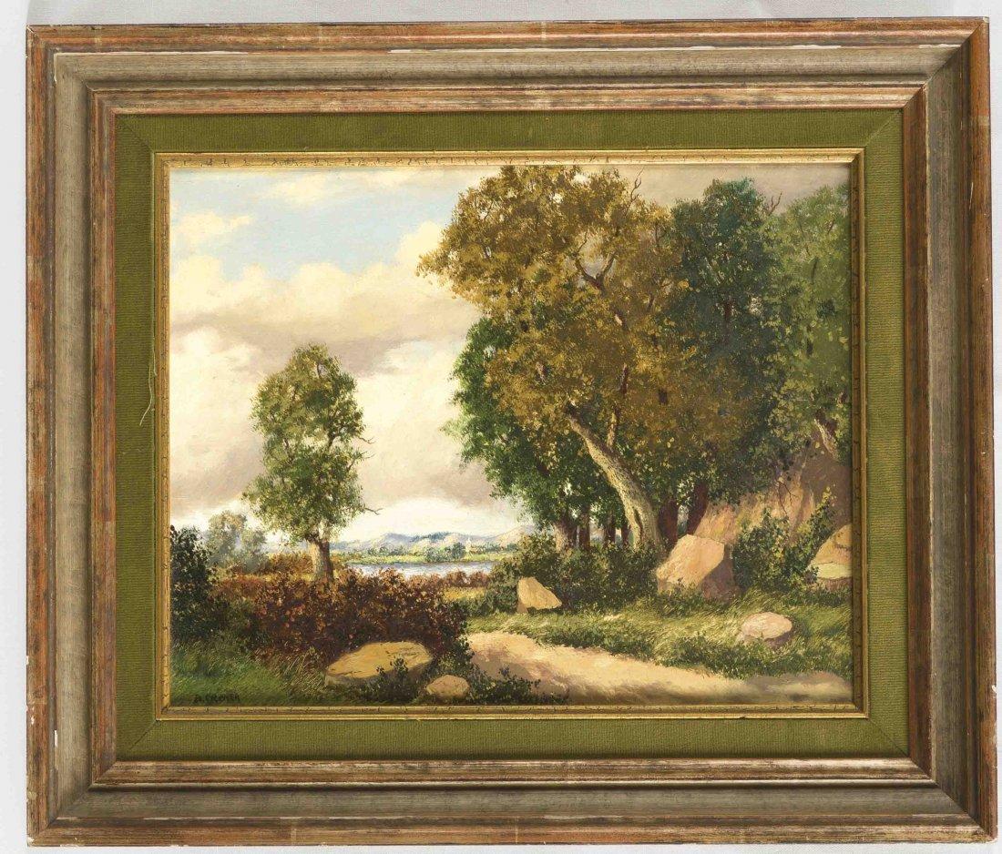 Cremer, B., Landschaftsmaler Mitte 19. Jh., bewaldete