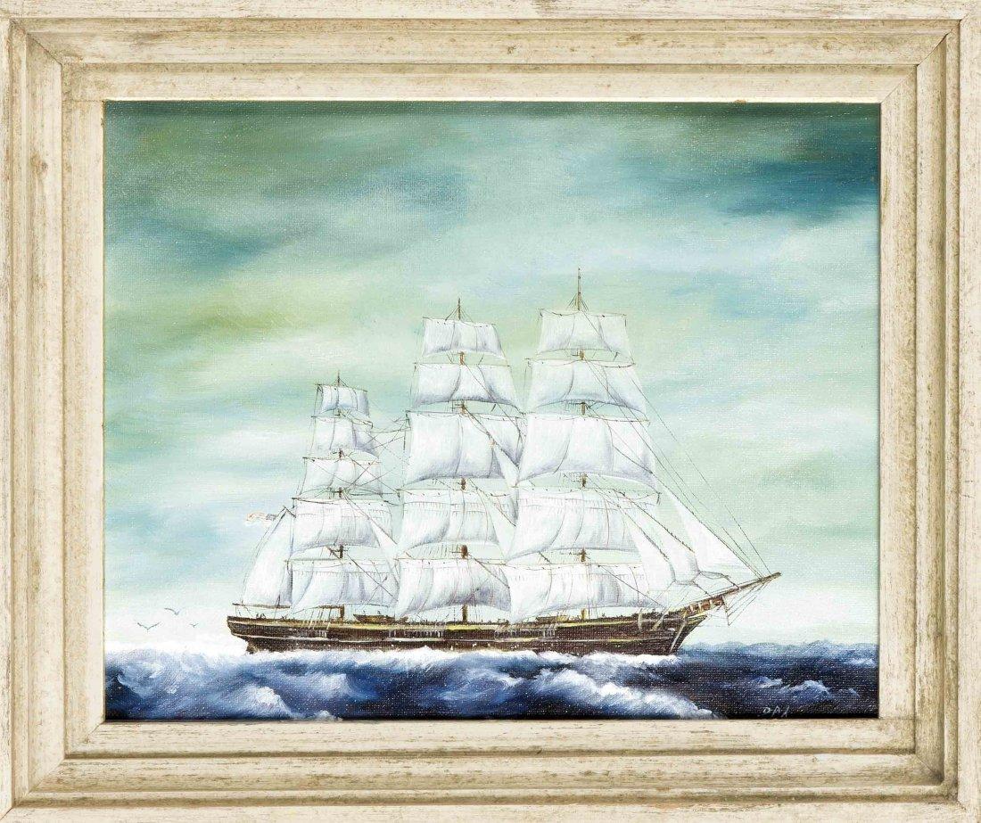 Monogrammist D.A.L., dt. Marinemaler des 20. Jh., 'Das