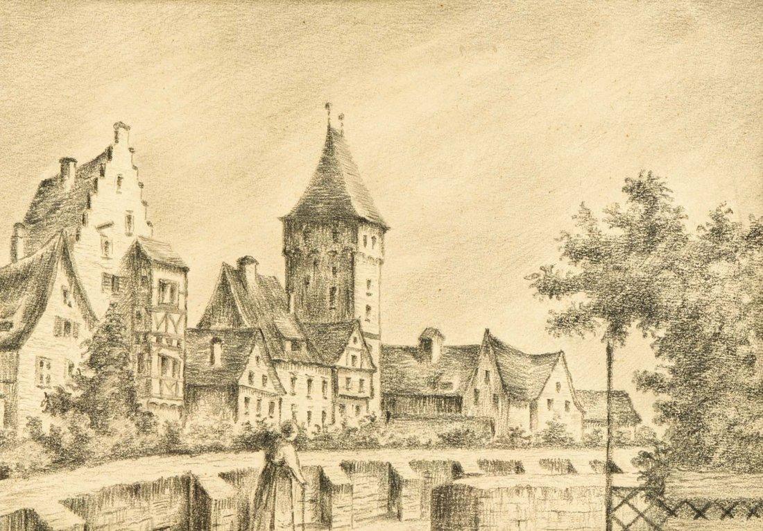 Anonymer Maler, 1. Hälfte 20. Jh., Dorf mit Kirche,