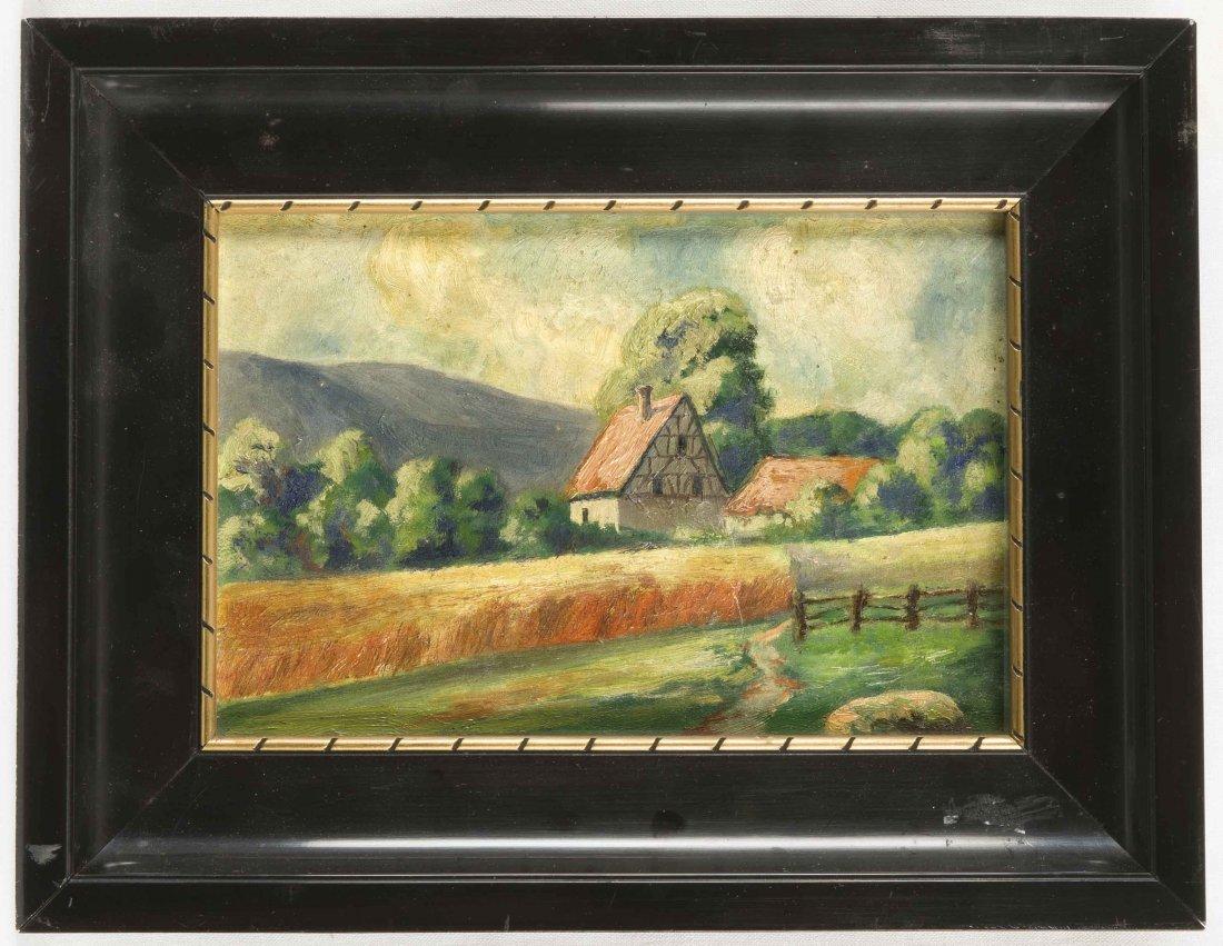 Anonymer Landschaftsmaler d. 20. Jh., Bergland mit zwei