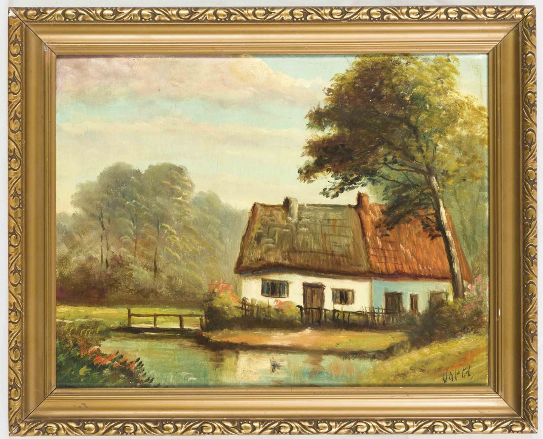 Anonymer Maler, um 1930, Holländischer Bauernhof,