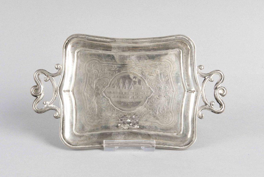 Tablett, Russland, 1874, Silber 84 zolotniki (875/000),