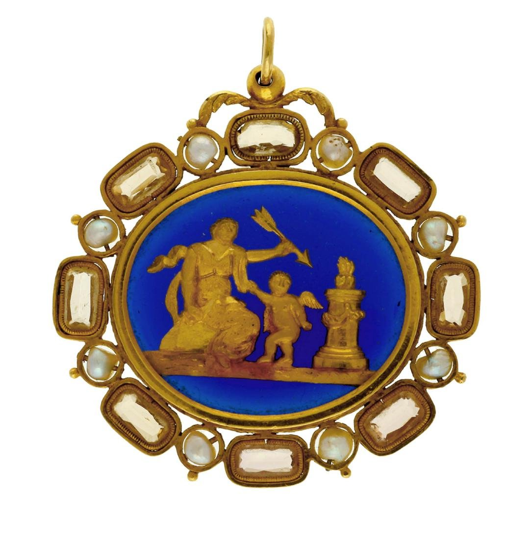 Gold pendant, late 18th Century - early 19th Century