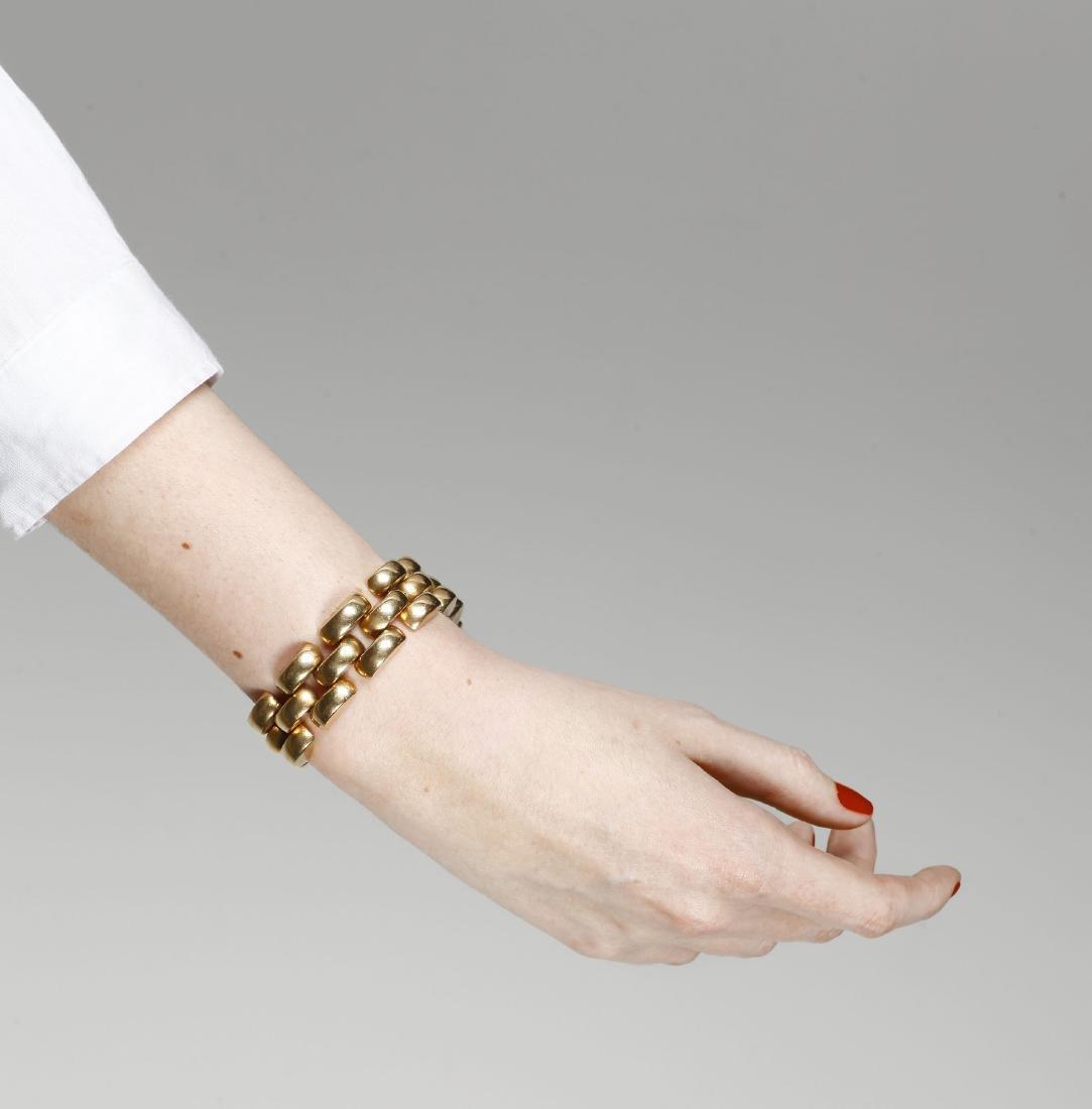 Gold mesh bracelet, circa 1940 Gold. 65,2 gr - 2