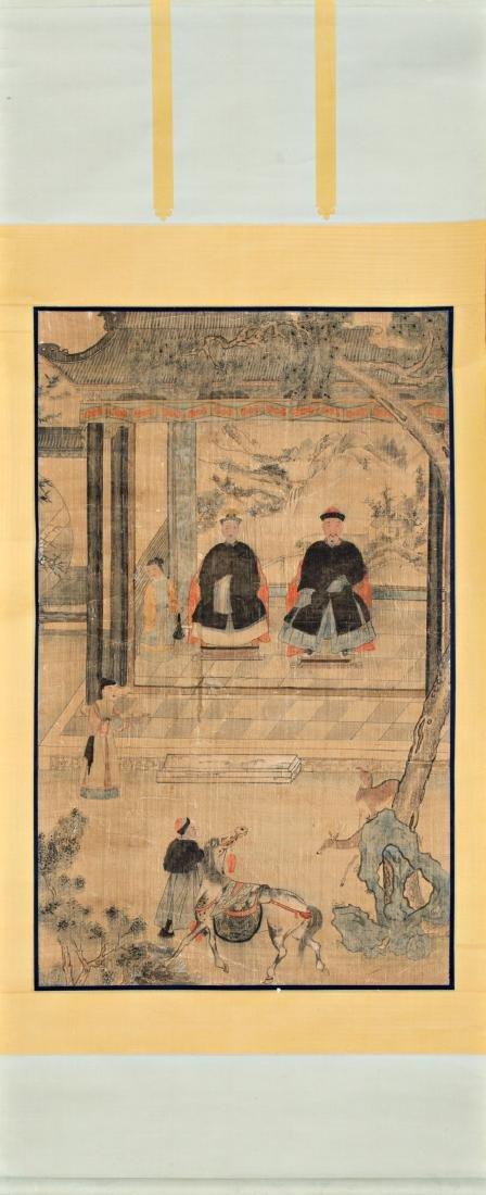 Chinese school, 19th Century Portraits of ancestors