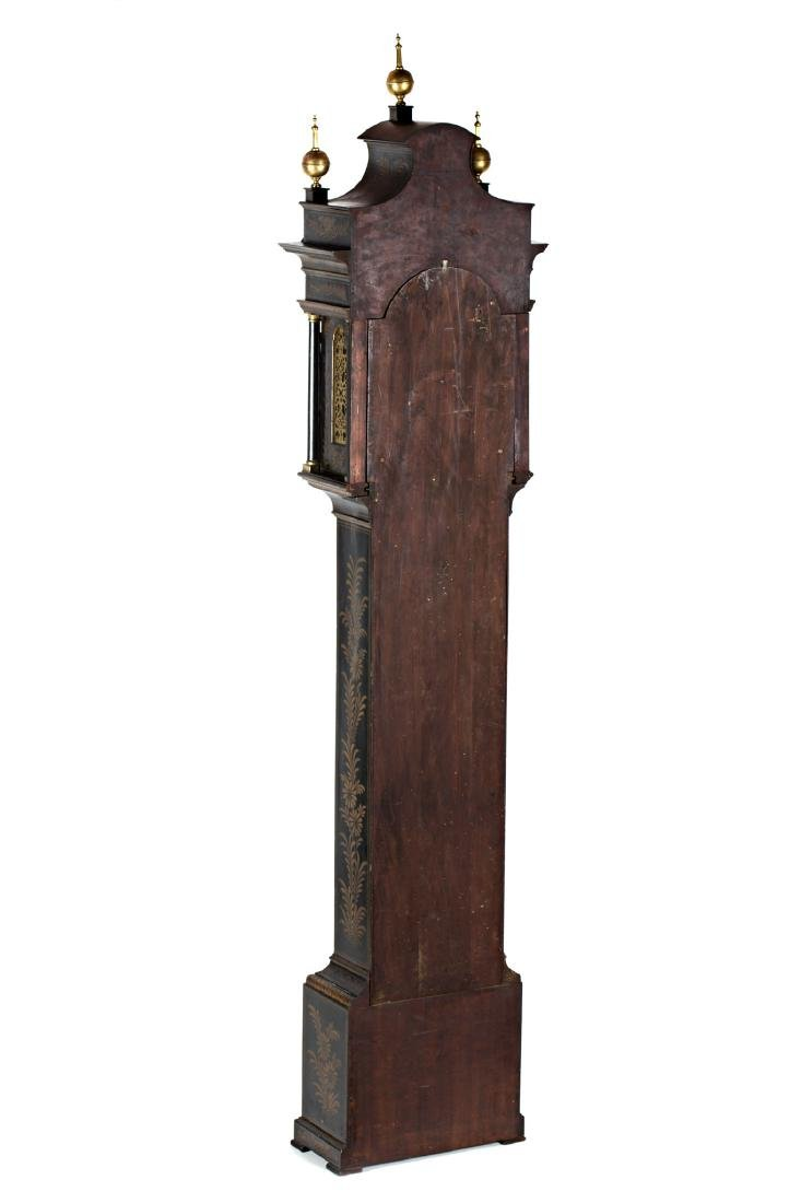 English grandfather clock in lacquered wood with - 3