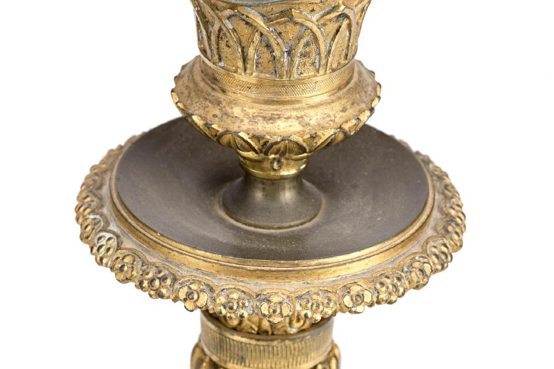 Pair of Charles X gilt bronze candlesticks, circa - 2