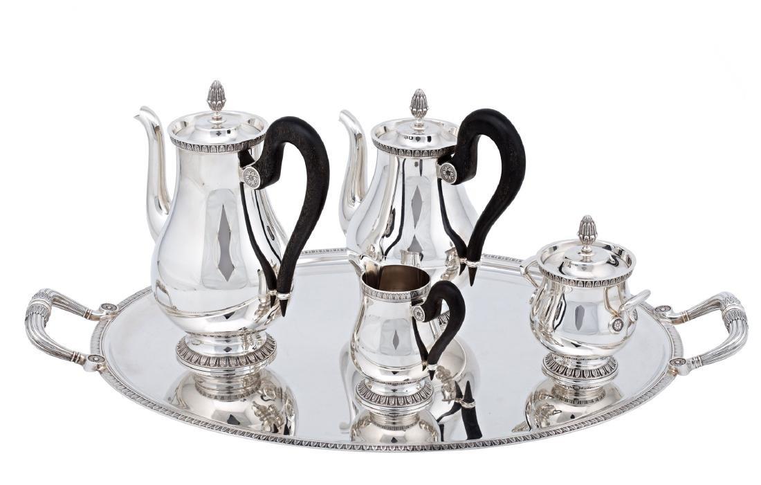 "French ""Malmaison"" coffee and tea set in Christofle - 2"