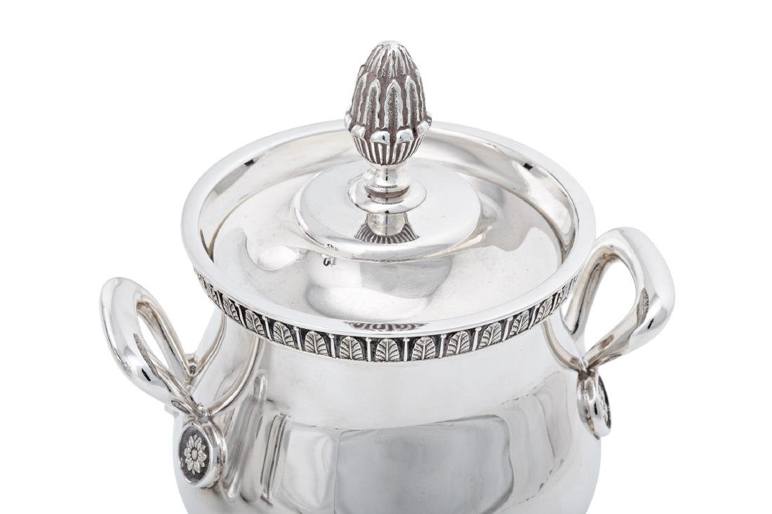 "French ""Malmaison"" coffee and tea set in Christofle - 5"