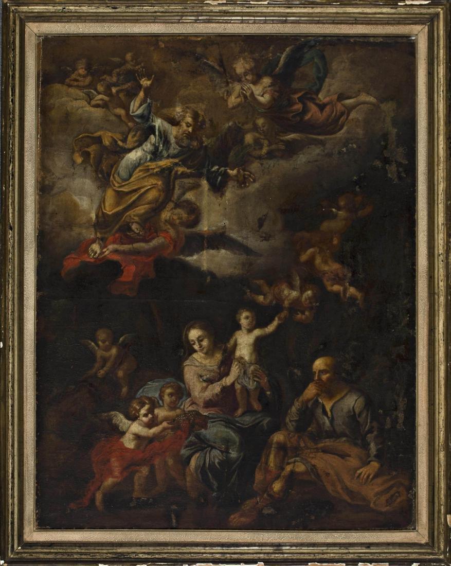 Italian school, 18th Century The Holy Family with God