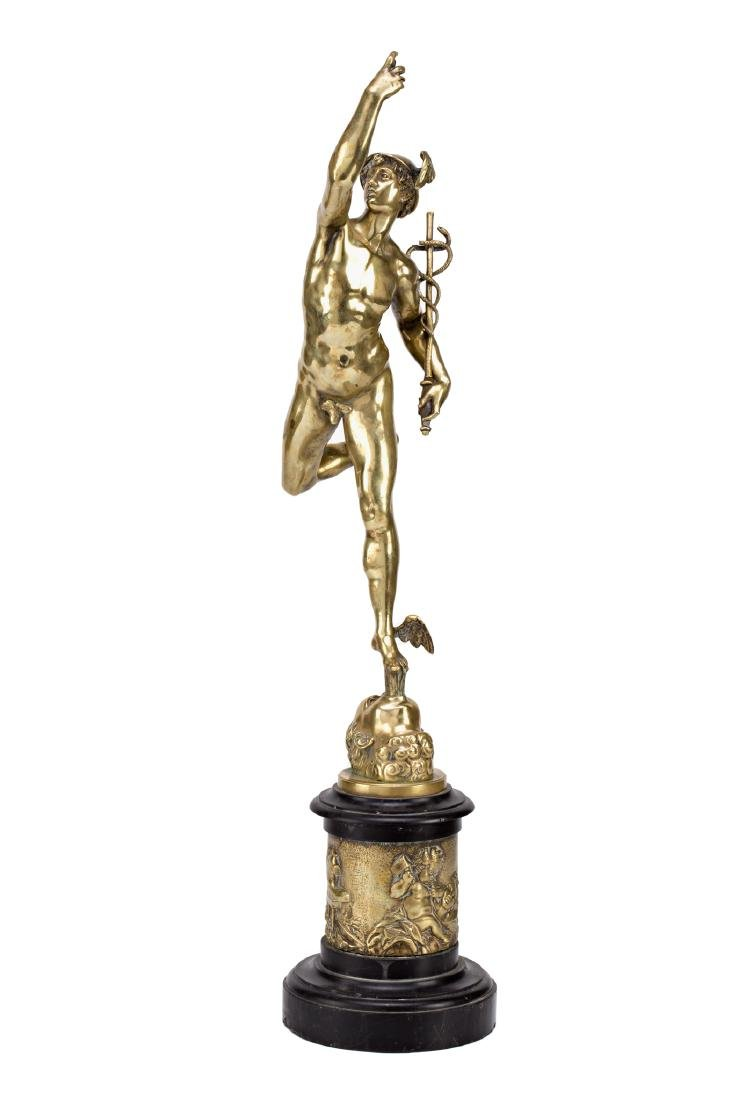 French school, early 20th Century  Mercury Gilt-bronze
