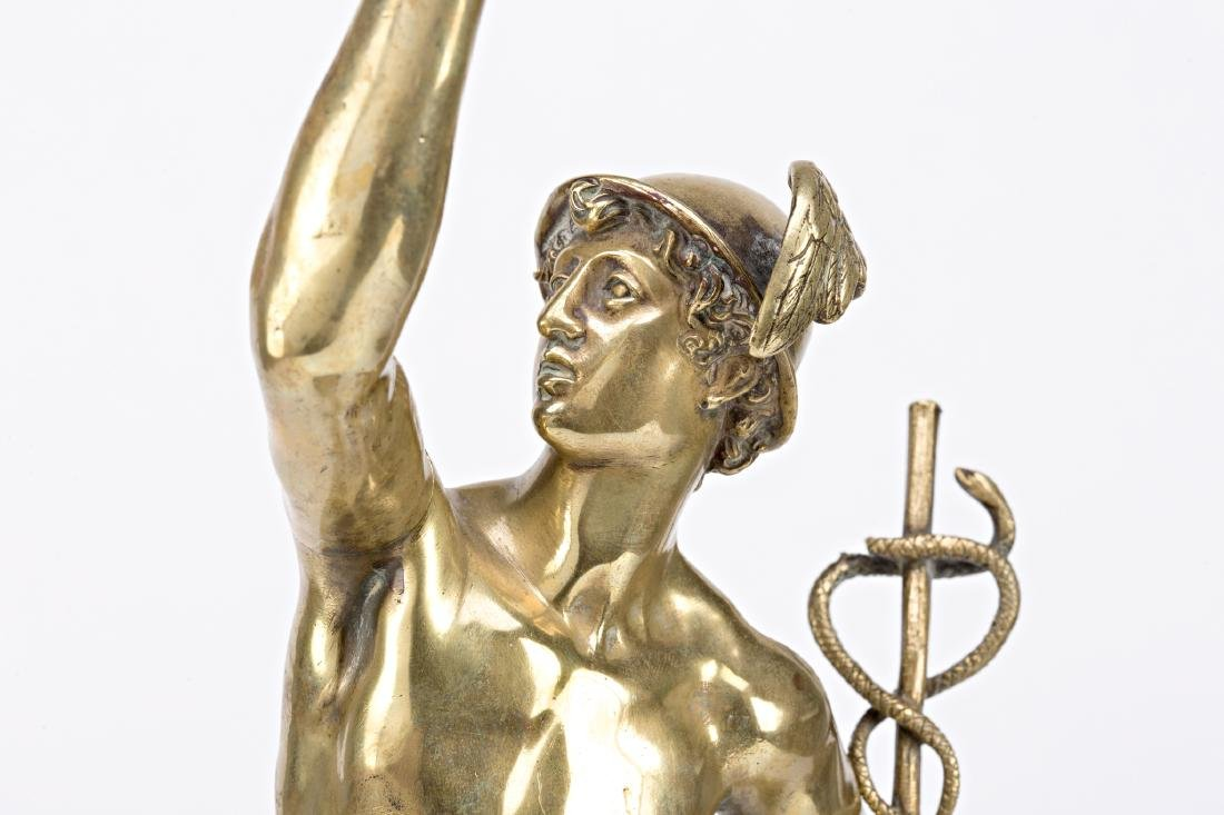 French school, early 20th Century  Mercury Gilt-bronze - 3