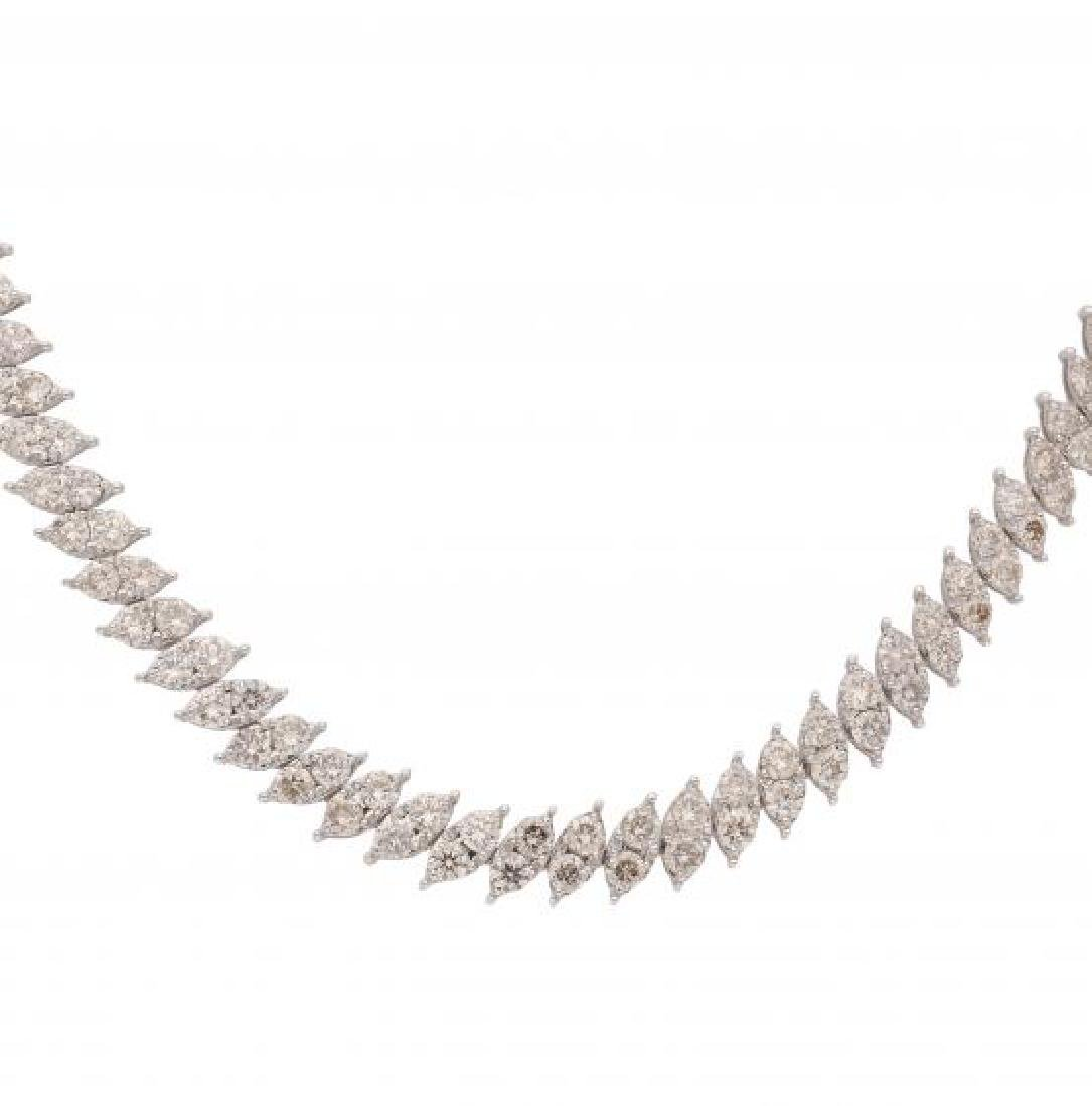 Diamonds choker necklace White gold and brilliant cut