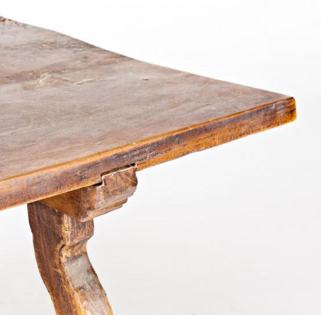 Spanish table with lyre legs in walnut, second half of - 3