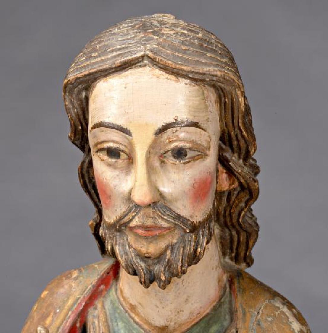 Burgos school, circa 1340 Christ blessing Sculpture in - 4