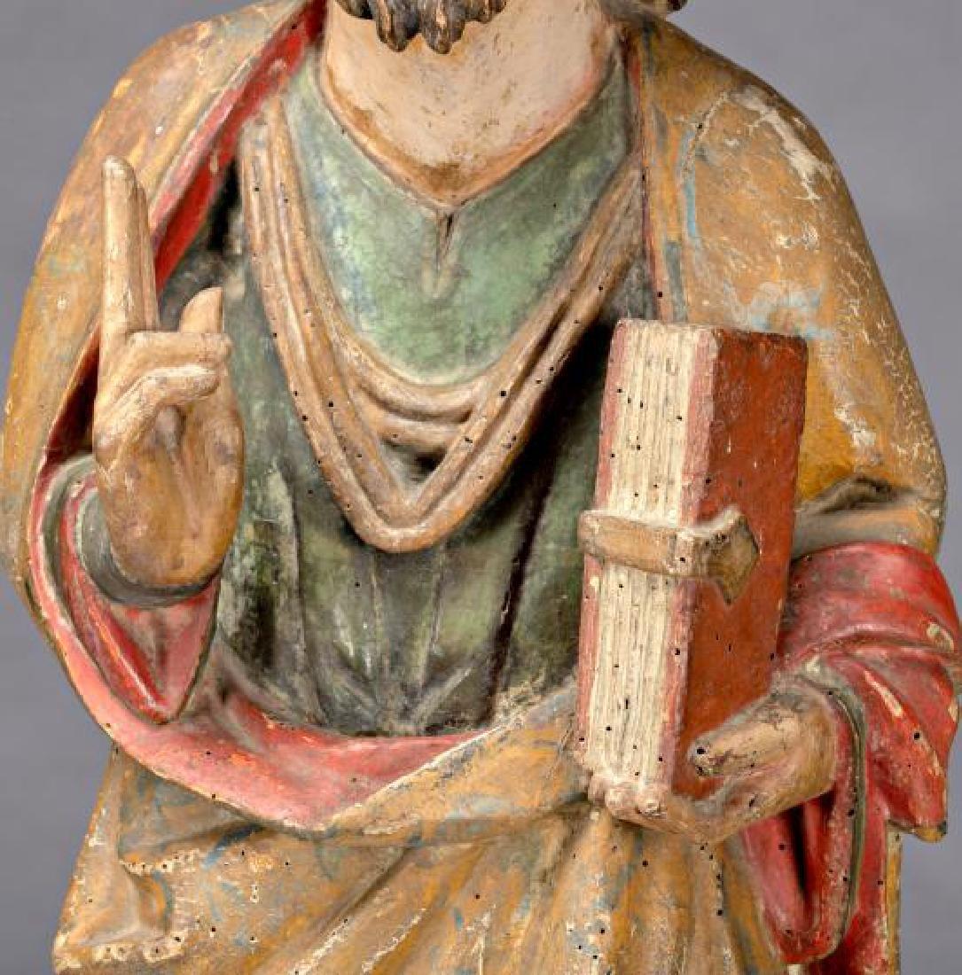 Burgos school, circa 1340 Christ blessing Sculpture in - 5