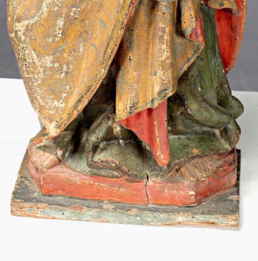 Burgos school, circa 1340 Christ blessing Sculpture in - 6